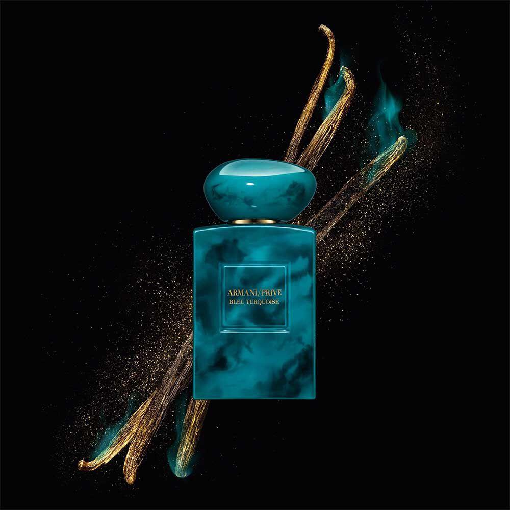 armani prive bleu turquoise